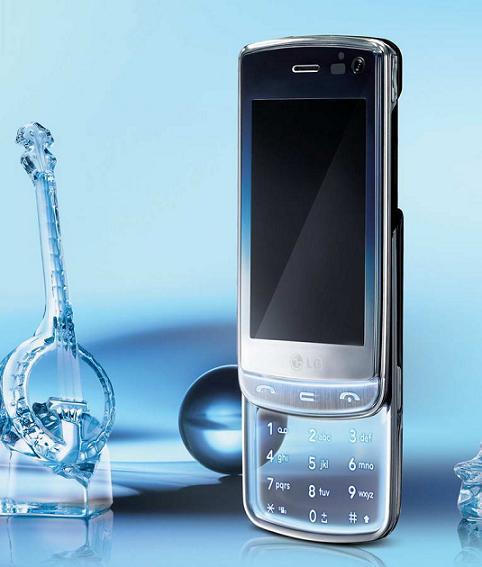 LG GD900 Crystal первый в мире прозрачный сотовый телефон