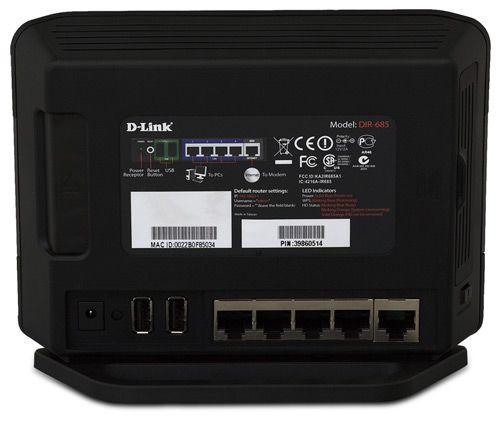 Маршрутизатор D-Link Xtreme N DIR-685 может играть роль NAS,цифровой фоторамки..