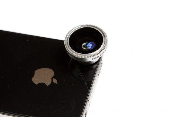Рыбий глаз(фишай) для мобильного телефона