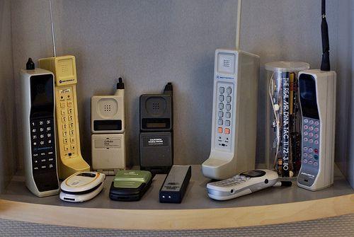 Первые мобильные телефоны