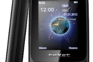 Новый бюджетный телефон teXet TM-D108