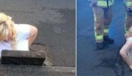 Англичанка застряла в ливнестоке, стараясь извлечь свой iPhone