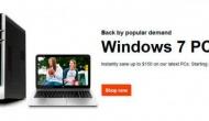 По многократным просьбам HP вернула на рынок компьютеры с Windows 7