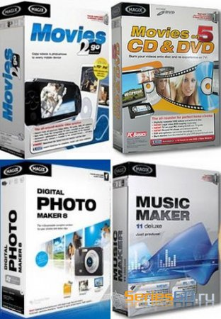 MAGIX Movies 2go 3.0.0.12 & on DVD 7.0.3 / Music Maker 8 & Photo Maker 14