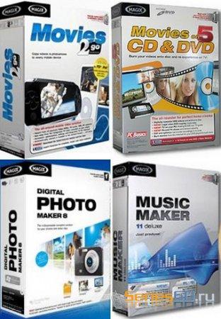 MAGIX Movies 2go 3.0.0.12 & on DVD 7.0.3 / Music Maker 8 & Photo Maker 14