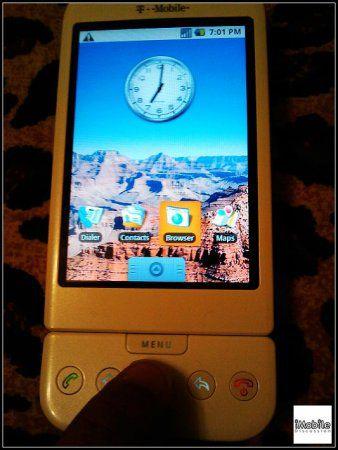 HTC Dream - шпионские снимки Android