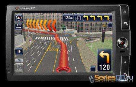 GPS-навигатор iNAVI K7 с динамическими 3D-картами