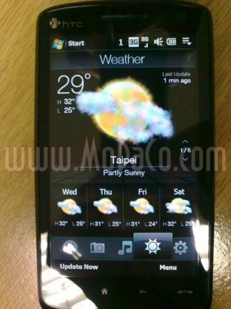 Слухи о HTC Touch HD