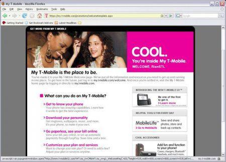 G1 появился на сайте T-Mobile