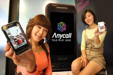Очень большой телефон от Samsung с сенсорным дисплеем
