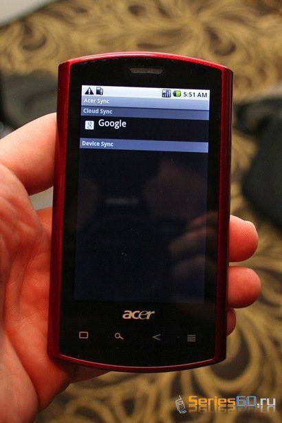 Старт продаж коммуникатора Acer A1(Liquid) на базе Android ОС в Европе